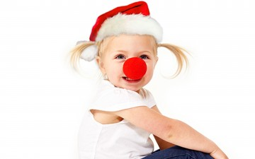 Child with red hat