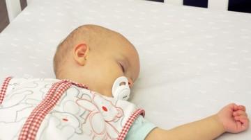 baby cot angled shot