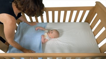 baby blanket cot with adult