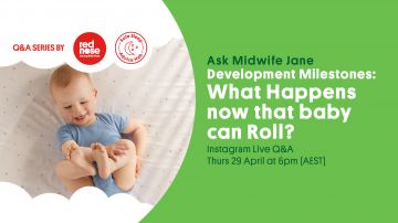 What happens now that baby can roll?