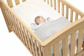 Baby in Cot Image on Angle Safe Sleeping