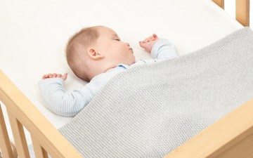 Safe Sleeping Baby in Cot