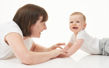 Tummy Time Woman and Baby Brochure Image