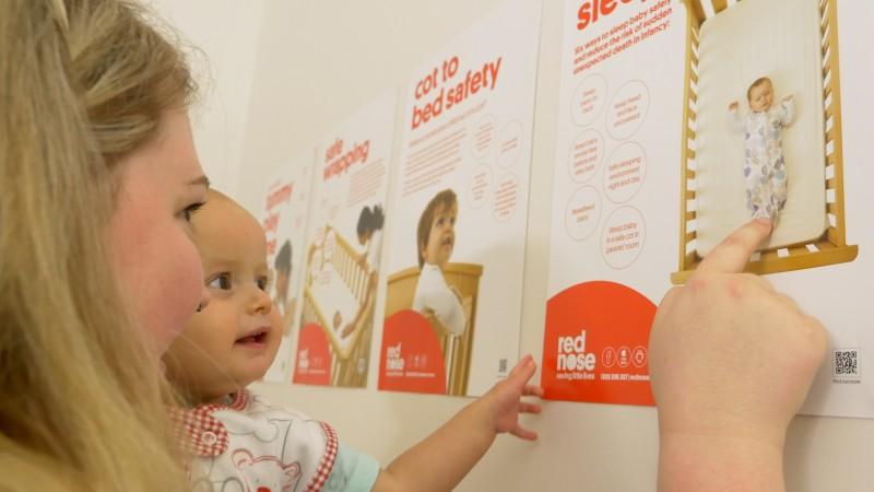 Carer and baby for Ringwood Workshop Media Release