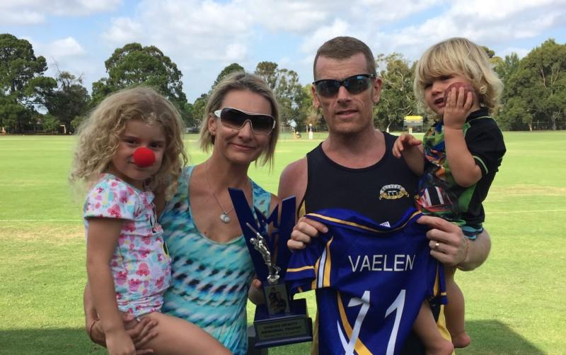Glen Hewitt and family Bentley Cricket Club T20 Feb 2018